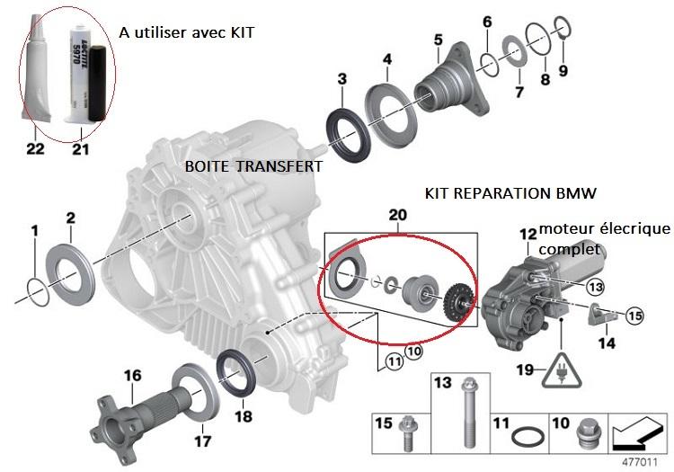 [ BMW X3 LCI 3.0sd an 2009 ] pignon moteur électrique boite transfert HS? 27_boi11
