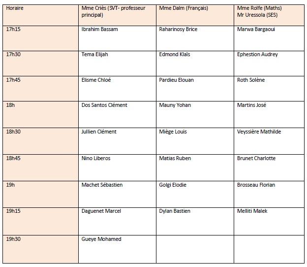 Planning remise bulletins 1er trimestre Planni10