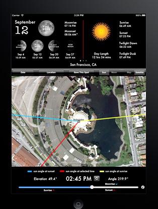 Une appli bien sympa pour suivi du soleil Lightt10