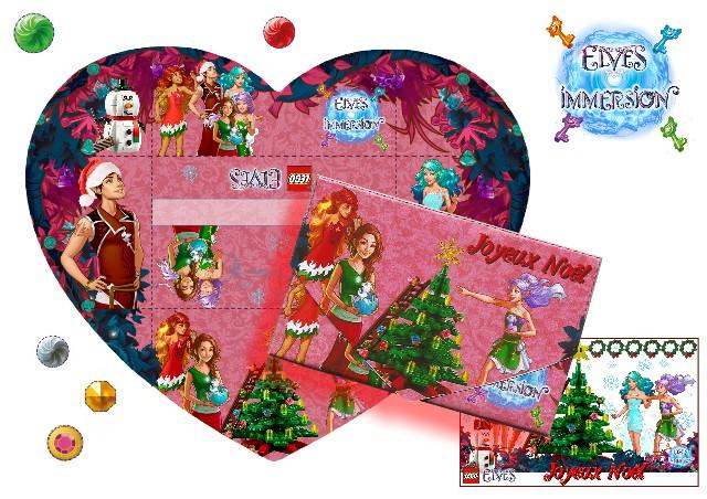 Lettre en forme de coeur Elves de Noël Courie10