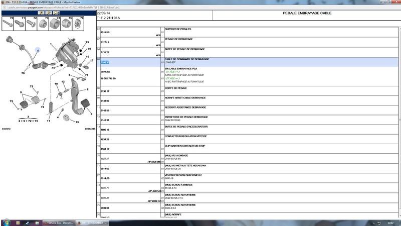 (Edit) Références kit embrayage,câble et joints de cardans pour changement embrayage 206 XS 1.6l 110 Sans_t10
