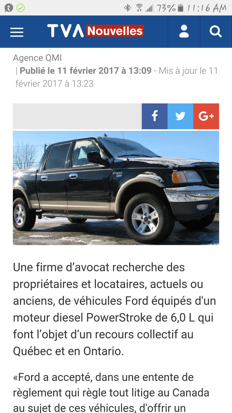 Ford moteur 6.0L recours collectif série f-150, 250, 350 2003-2007 Screen18