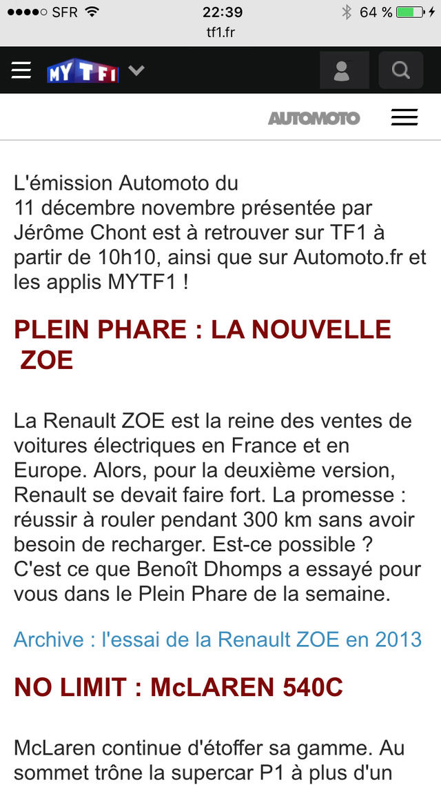Nouvelle Zoé TF1 auto moto 11 Décembre 2016 Img_2018