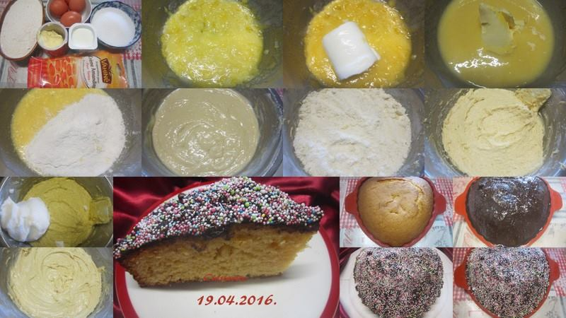Gâteau crème Amandine.nappage chocolat. 10363910