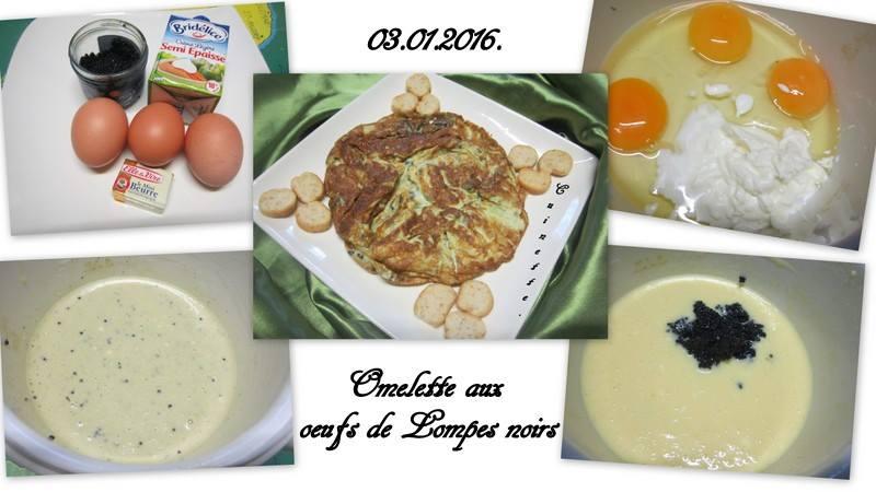 Omelette aux œufs de lompe noirs. 10584010