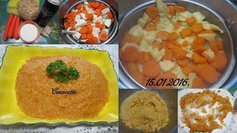Purée de céleri rave et carottes. 12507610
