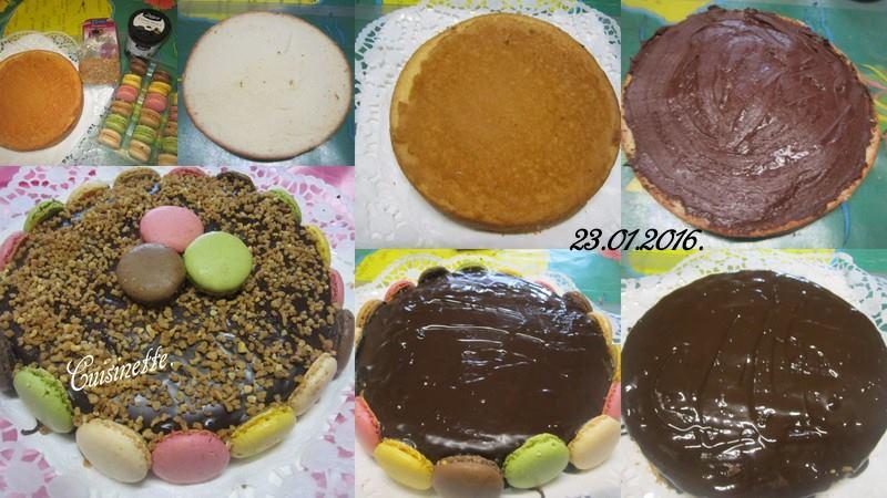 Gâteau crème moka.aux macarons. 12510411