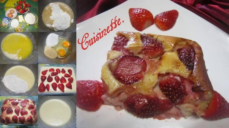 Clafoutis aux fraises & crème fraiche. 12565510