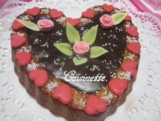 Gâteau St Valentin de noix de coco. 12631510