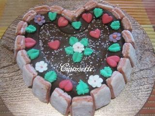 Gâteau St Valentin.chocolaté/pomme. 12745510