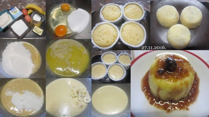 Gâteaux aux bananes et cerises.micro-ondes.  15241110