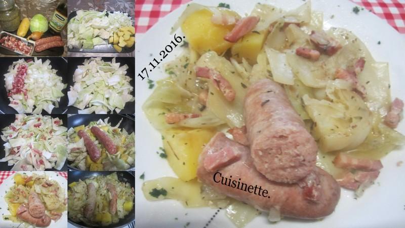 Chou vert aux saucisses de Toulouse. Choux_11
