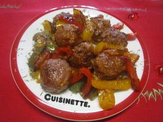 Boulettes de viande aux tricolores de poivrons. Img_3712