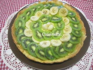 Tarte aux kiwis.bananes.sur une crème pâtissière. Img_3913