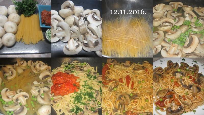 Spaghettis aux champignons de Paris. Spaghe10