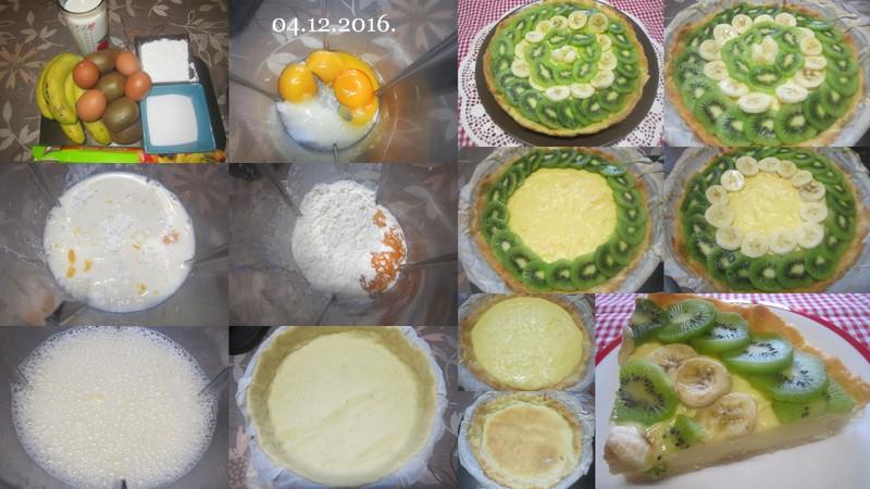 Tarte aux kiwis.bananes.sur une crème pâtissière. Tarte_10