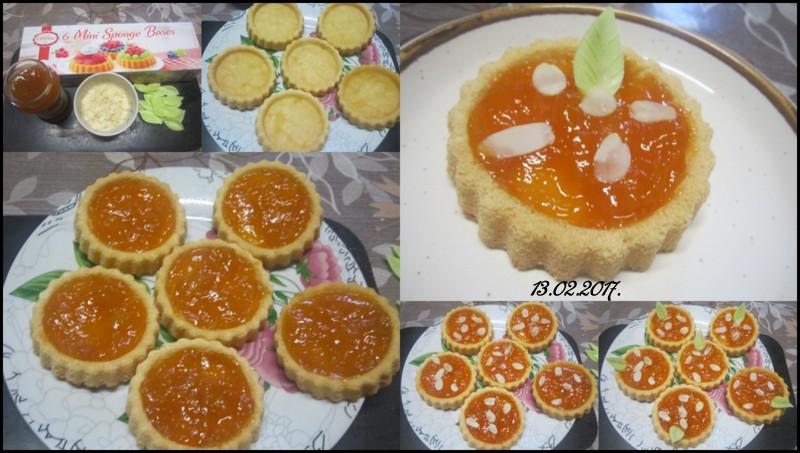 Tartelettes à la confiture aux abricots allégées. Tartel12