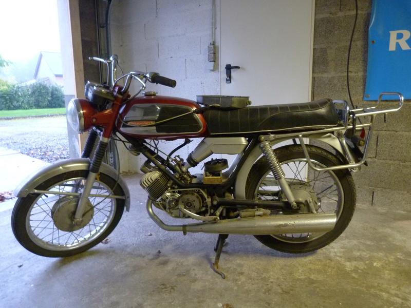 Rennaissance d'une 125 Standard oubliée dans le fond d'un garage. P1060310