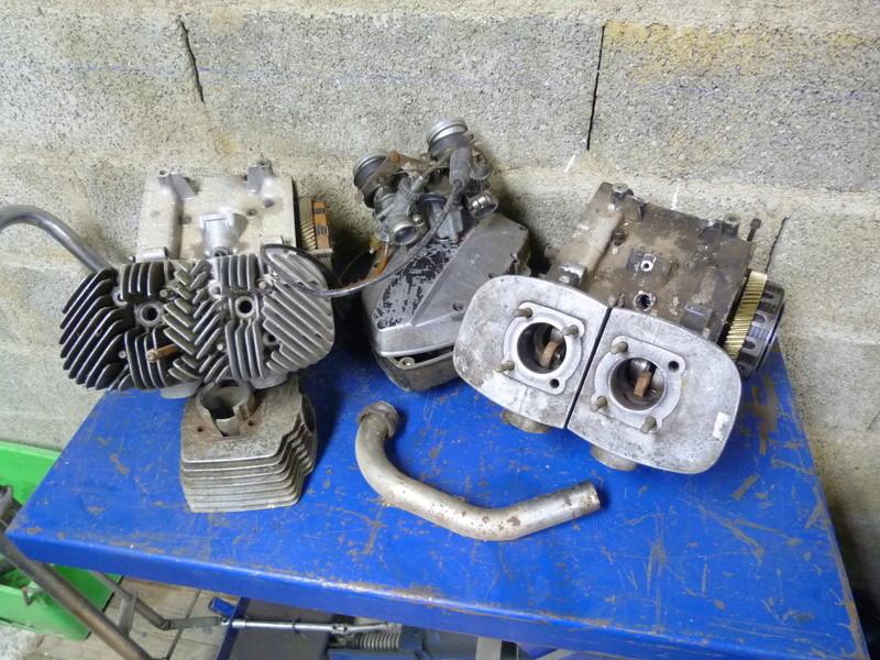 Rennaissance d'une 125 Standard oubliée dans le fond d'un garage. P1100310
