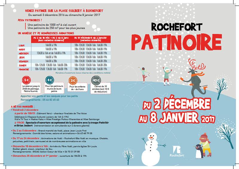 Inauguration de la patinoire de Rochefort, du grand spectacle ! Patino10