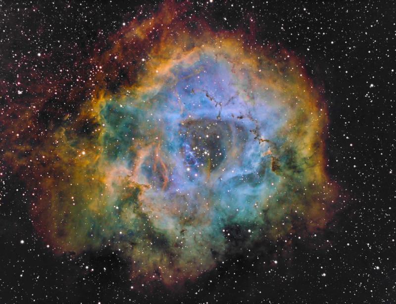 Rosette nebula SHO Ngc22311