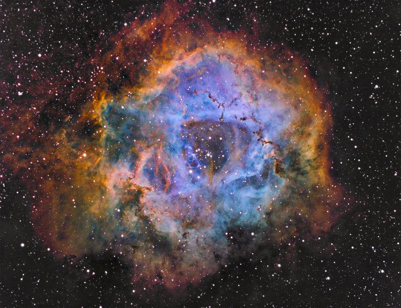 Rosette nebula SHO Ngc22319