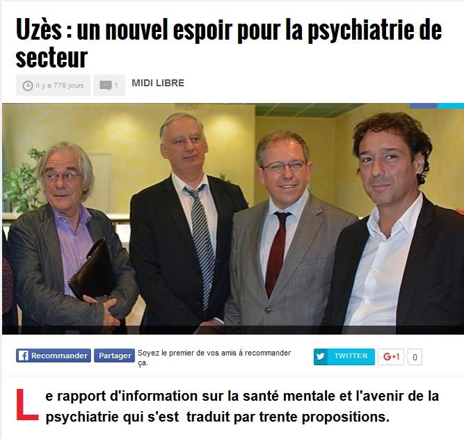 Denys Robiliard, le député Cavard hopital psychiatrique Uzes