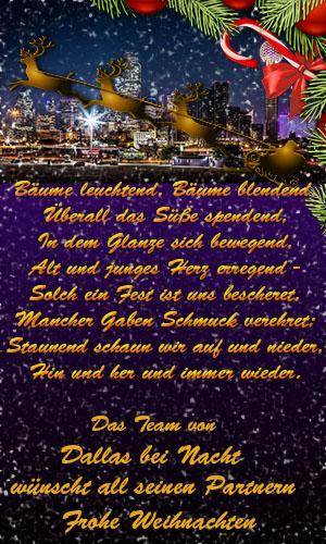 Dallas bei Nacht wünscht frohe Weihnachten 81e84610