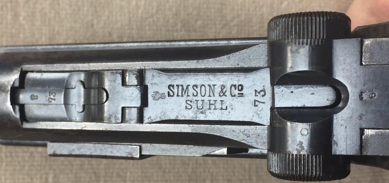 Les P 08 Simson & Co, à Suhl, sous la république de Weimar. Img_2519