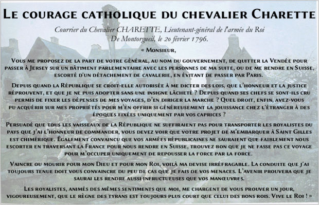 Le courage catholique du Chevalier Charette Courag10