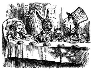 Alice au pays des merveilles et De l'Autre Côté du miroir (Lewis Carroll, 1865, 1871) Alice410