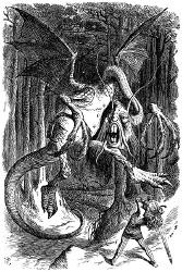 Alice au pays des merveilles et De l'Autre Côté du miroir (Lewis Carroll, 1865, 1871) Jabber10