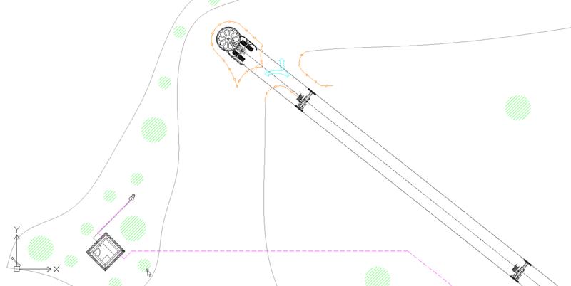 Dessins techniques, Plans 2D remontées mécaniques Plan710