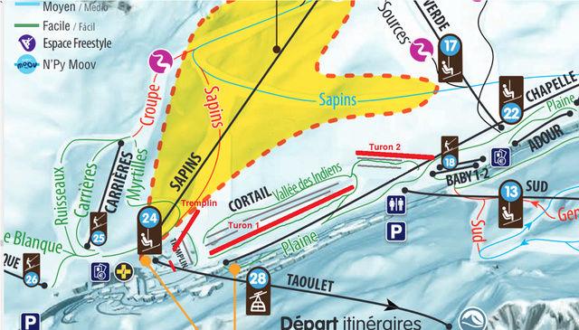 Construction télésiège 4 Termes et tapis roulants - La Mongie Tourma10