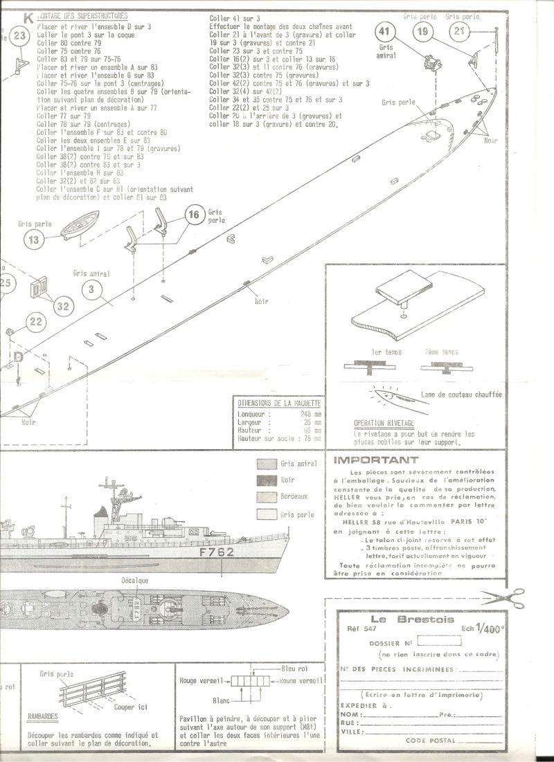 Aviso rapide  type E50 Le BRESTOIS 1/400ème Réf 547  Helle134