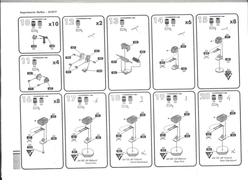 Cuirassé JEAN BART 1/400ème Réf 81077 Notice Heller22