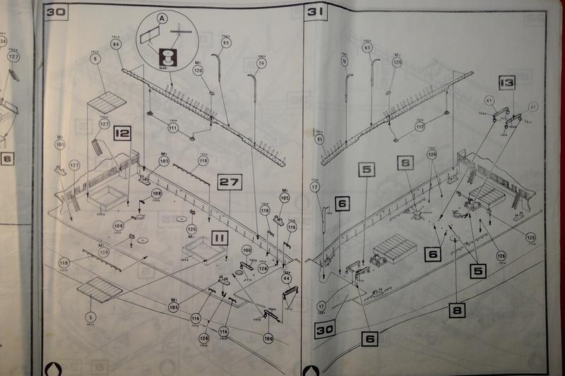 5 mats barque Le PREUSSEN 1/150ème Réf 813 Notice Heller60