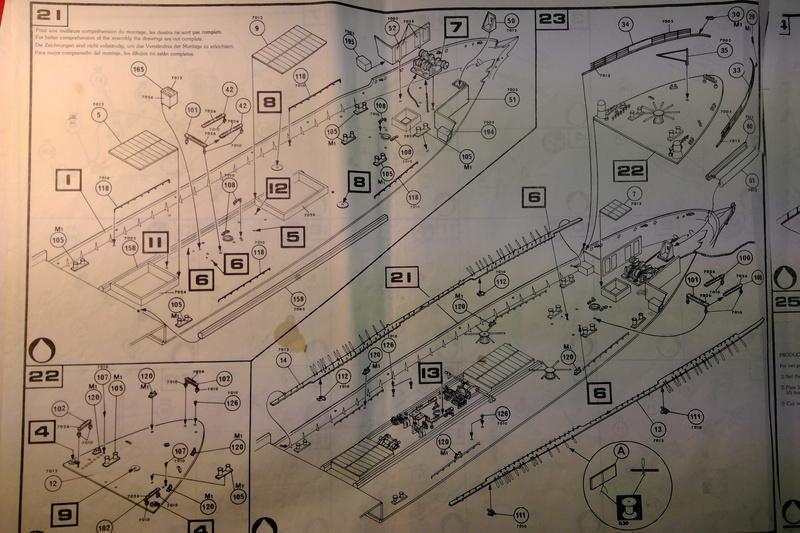 5 mats barque Le PREUSSEN 1/150ème Réf 813 Notice Heller63