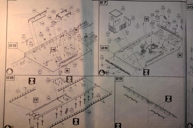 5 mats barque Le PREUSSEN 1/150ème Réf 813 Notice Heller64