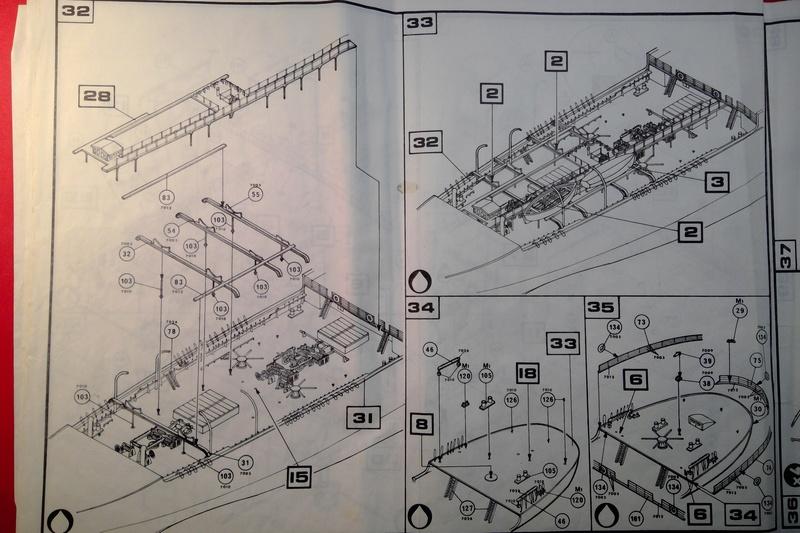 5 mats barque Le PREUSSEN 1/150ème Réf 813 Notice Heller69