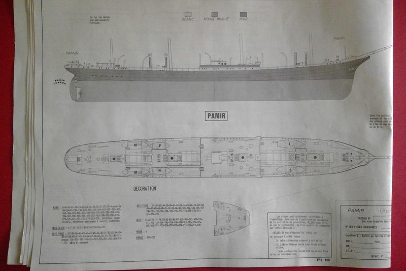 Cap-hornier PAMIR Réf L1200 1/150ème Heller91