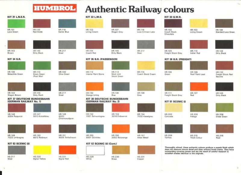 [HUMBROL 198.] Dépliant peinture authentic 198. Humbr103