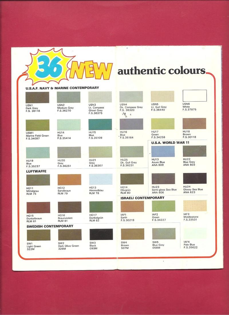 [HUMBROL 198.] Dépliant peinture authentic 198. Humbr104