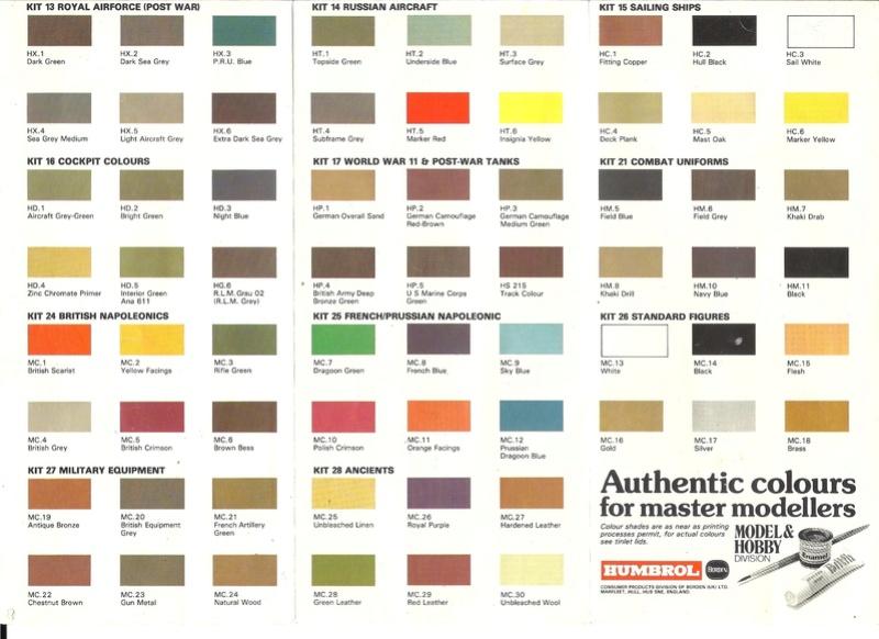 [HUMBROL 198.] Dépliant peinture authentic 198. Humbr105