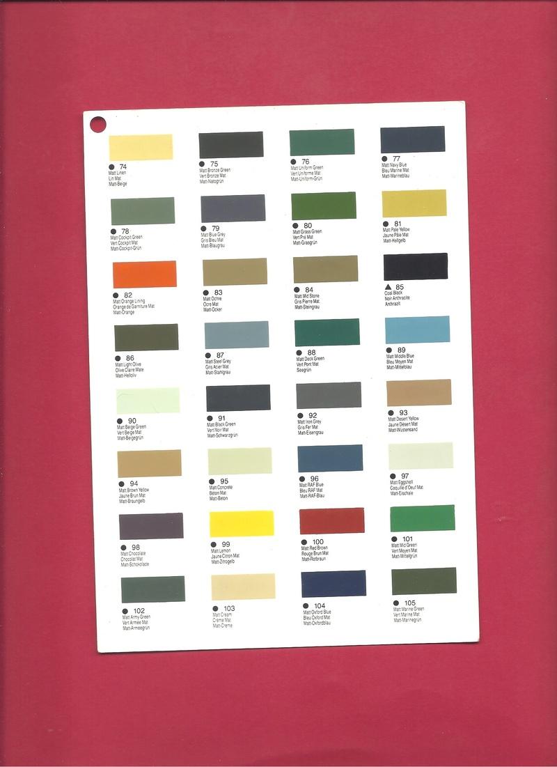 [HUMBROL 199.] Nuancier présentoir peintures 199.  Humbro87