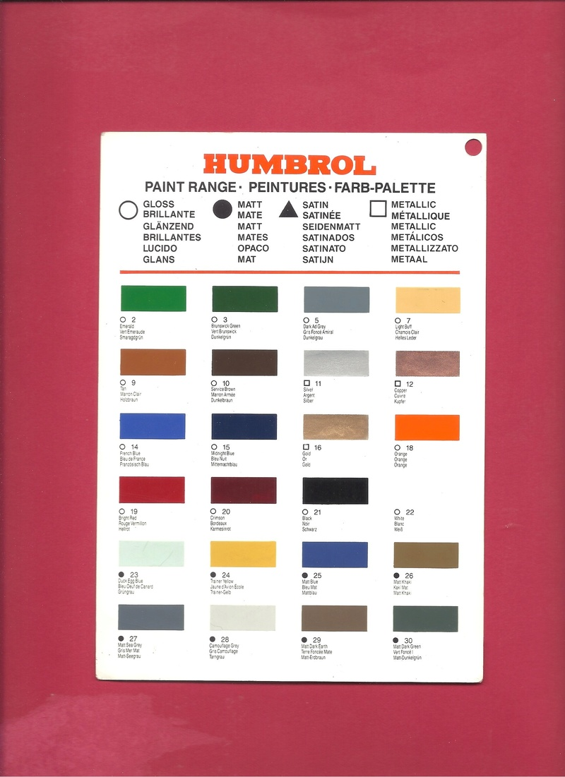 [HUMBROL 199.] Nuancier présentoir peintures 199.  Humbro88