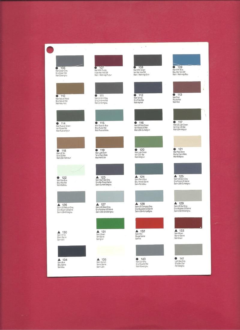 [HUMBROL 199.] Nuancier présentoir peintures 199.  Humbro90