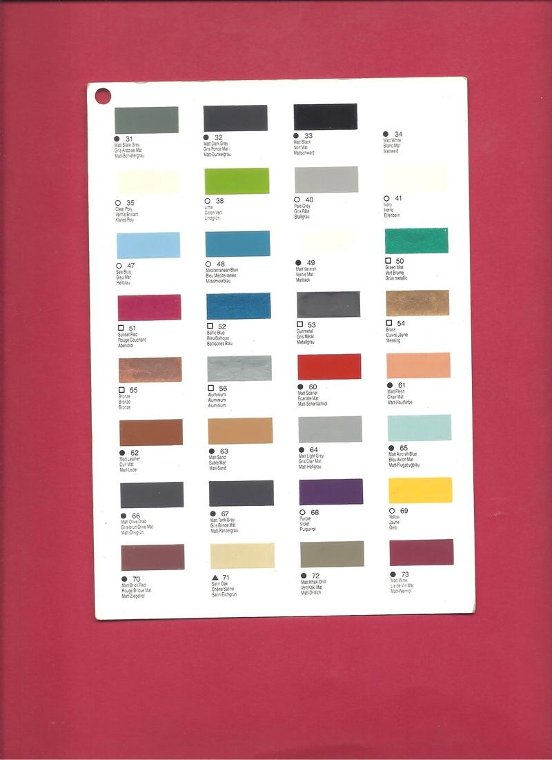[HUMBROL 199.] Nuancier présentoir peintures 199.  Humbro94