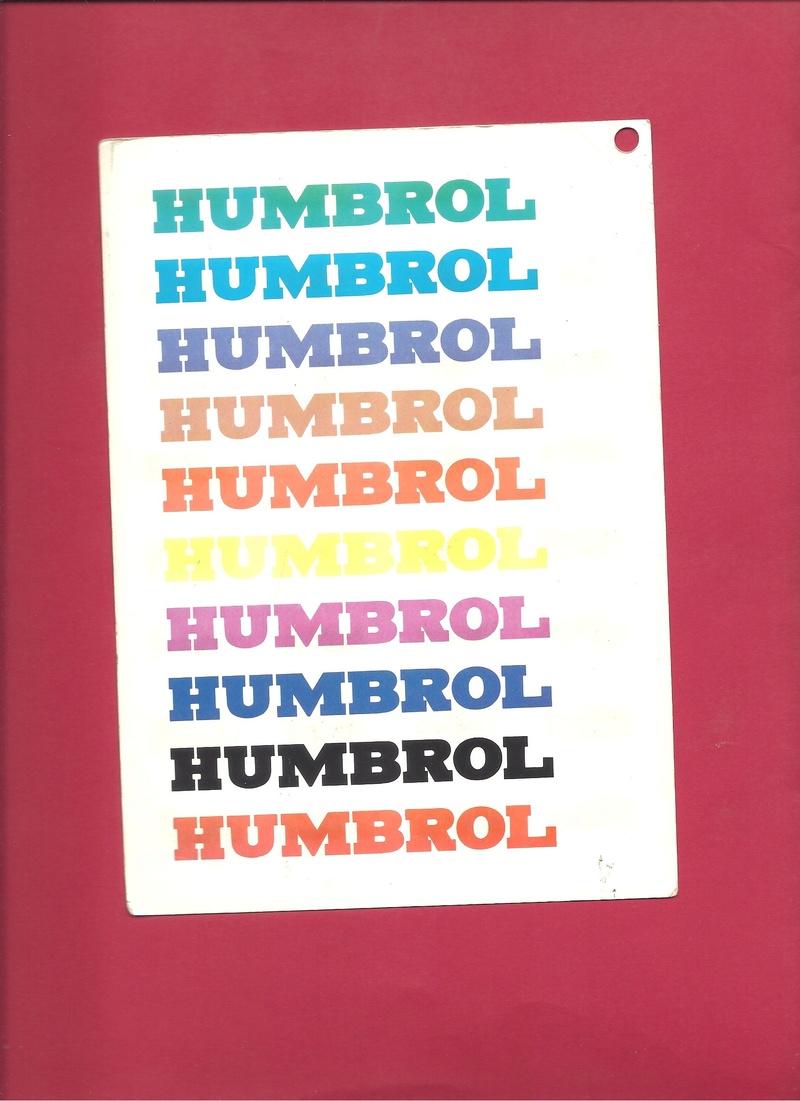 [HUMBROL 199.] Nuancier présentoir peintures 199.  Humbro97