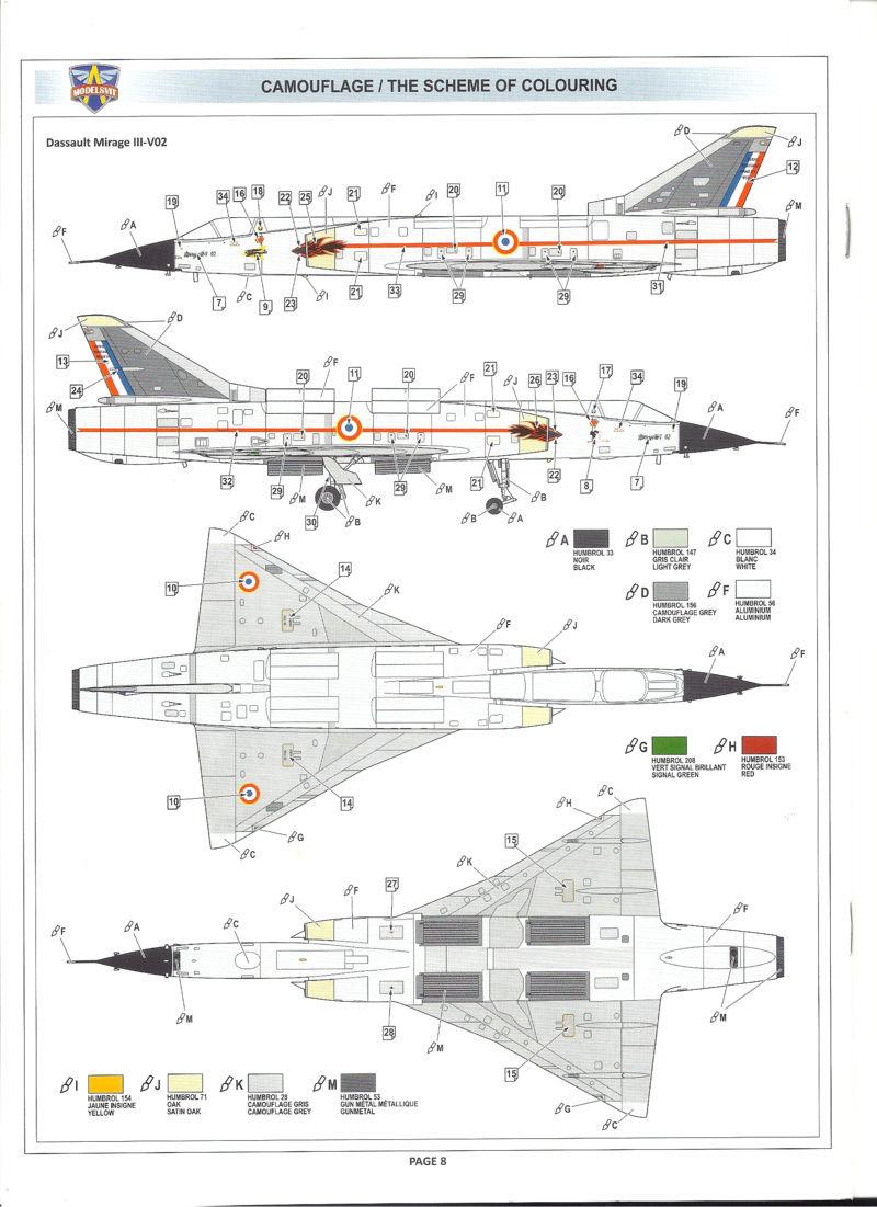 dassault mirage - [MODELSVIT] DASSAULT MIRAGE III V 02 1/72ème Réf 72034 Models41